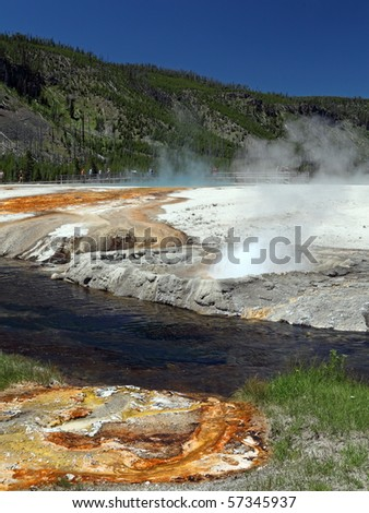 Yellowstone National Park in the state of Wyoming