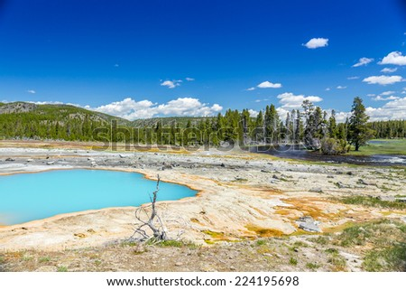 Yellowstone National Park, Wyoming, USA - stock photo