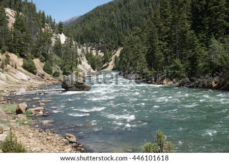 Yellowstone river, close-up