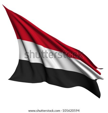 Yemen flag - collection no_4 - stock photo