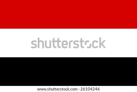 Yemen flag illustration, computer generated. - stock photo