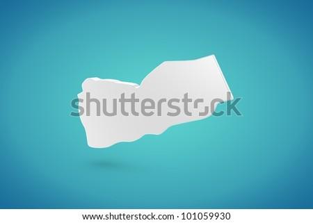 Yemen Map - stock photo