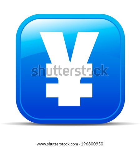 Yen Renminbi Internet button Icon Web App interface - Raster Version - stock photo