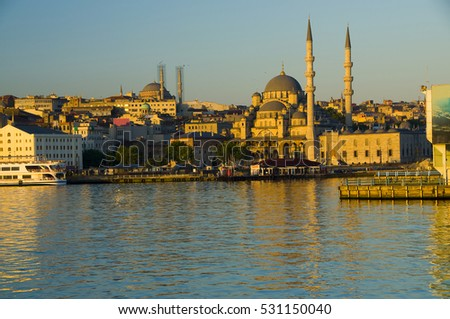 Yeni Mosque & Old Town, Istanbul, Turkey