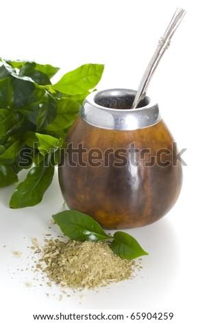 Yerba mate cup - stock photo