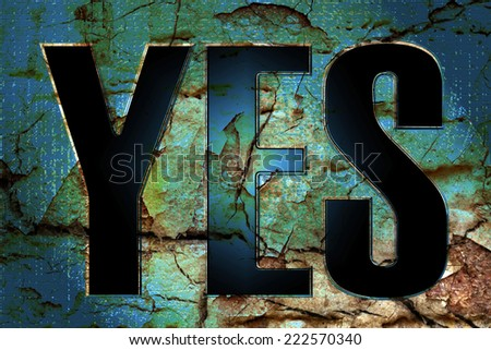 YES - stock photo