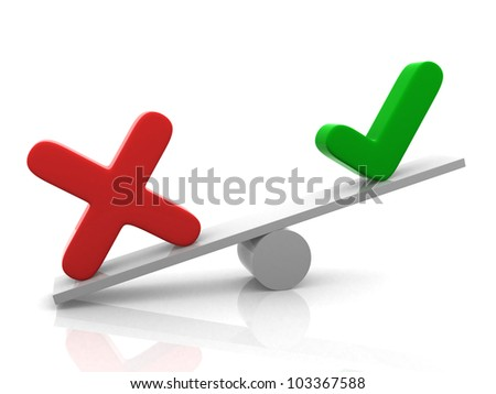 Yes - No balance. This is a 3d render illustration - stock photo