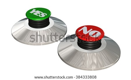 Yes No buttons  - isolated  - stock photo