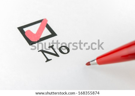 Yes No check box - stock photo