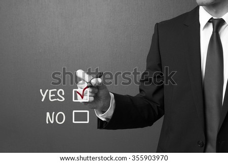 YES NO check boxes - stock photo