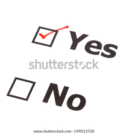 Yes No  check boxes,check Yes