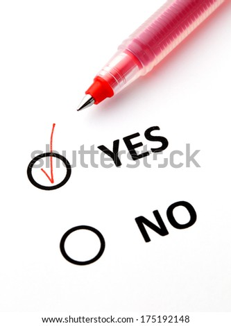 Yes or No checkbox - stock photo