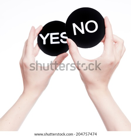 Yes or no decision  - stock photo