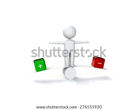 Yes or no decision 3d human - stock photo