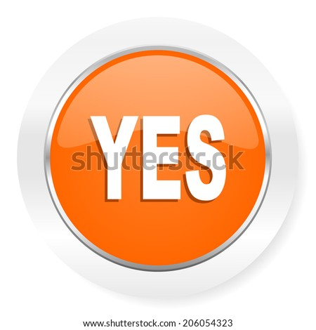 yes orange computer icon