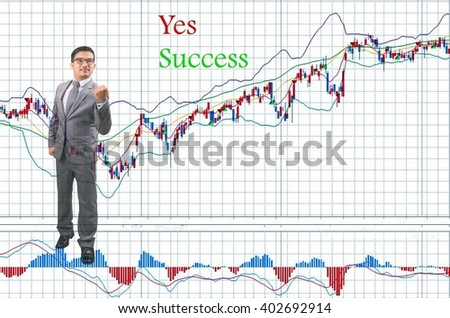 Yes Success - Young businessman, investor, successful style.