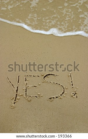Yes Written in Sand