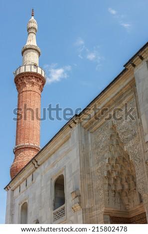 Yesil Camii (Green Mosque) in the center of Bursa, Turkey - stock photo
