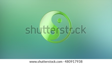 Yin and yang Color 3d Icon