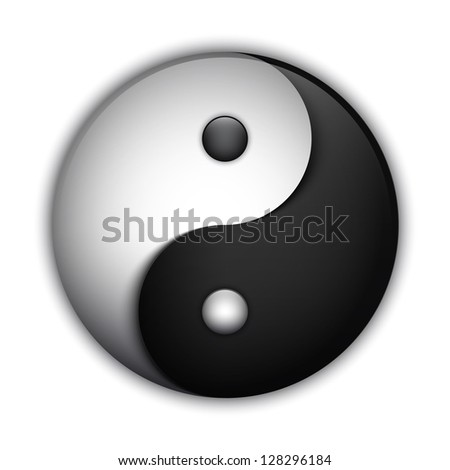 Yin and Yang symbol, highly detailed. Raster version