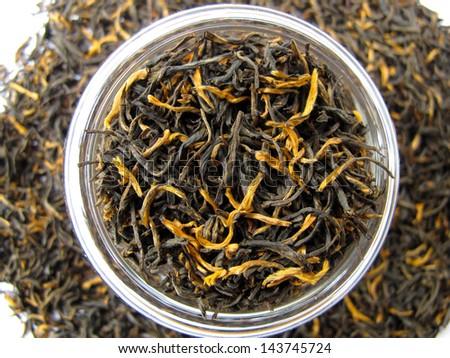 Yin Jun Mei( Silver eyebrows) Black Tea, . - stock photo