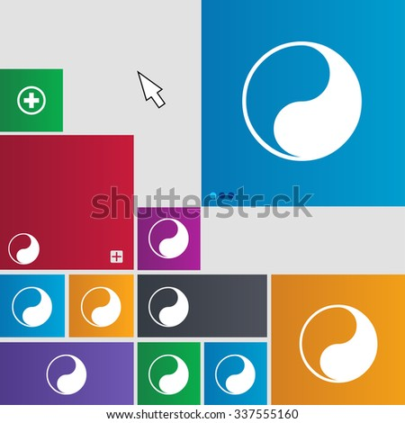 Yin Yang icon sign. buttons. Modern interface website buttons with cursor pointer. illustration - stock photo