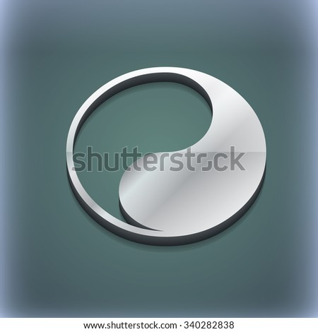 Yin Yang icon symbol. 3D style. Trendy, modern design with space for your text illustration. Raster version - stock photo