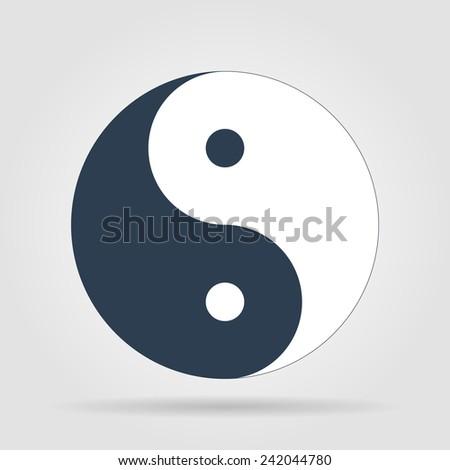 Yin Yang Symbol - Black and White  - stock photo