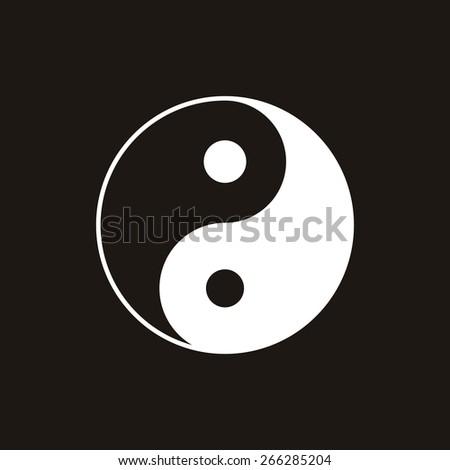 Yin yang symbol of harmony and balance. - stock photo