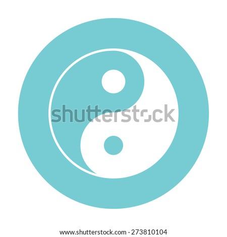 Yin yang symbol of harmony and balance - stock photo