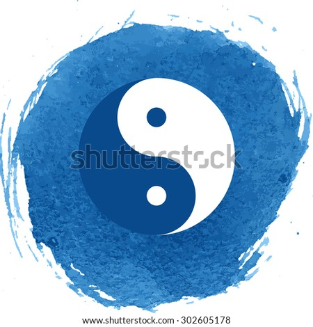 Yin yang symbol of harmony and balance - stock photo