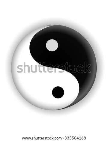 yin yang ying yang symbol  icon jpg version - stock photo