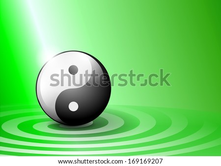 ying yang background green