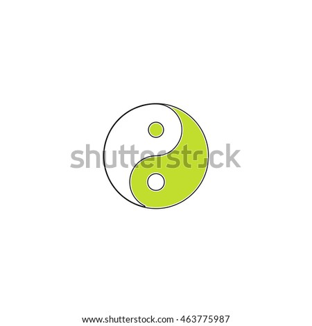 Ying yang symbol of harmony and balance. Flat icon on white background. Simple illustration