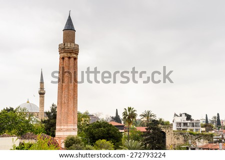 Yivli minare Mosque (Alaaddin), Fluted Minaret mosque or Ulu Mosque, a historical mosque built by the Anatolian Seljuk Sultan Alaaddin Keykubad I - stock photo