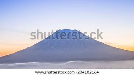 Yo Te Mountain know as little Fuji of Hokkaido. - stock photo