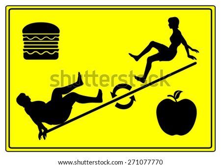 Yo Yo Dieting. Humorous concept sign of weight cycling which means weight loss followed by weight gain - stock photo