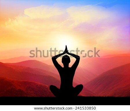 Yoga and meditation - stock photo