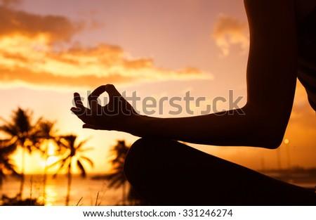 Yoga and meditation - stock photo