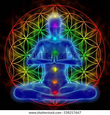 Yoga and meditation - flower of life