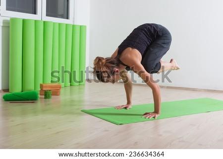 Yoga asana position - stock photo