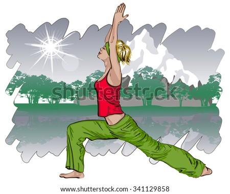 Yoga concept.  - stock photo