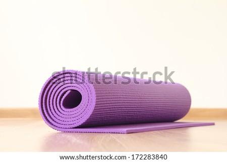 yoga mat - stock photo
