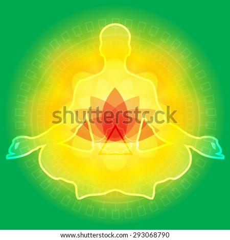 Yoga Meditation - Illustration - stock photo