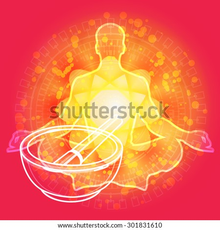 Yoga - Natural Medicine - Illustration - stock photo
