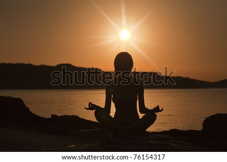 yoga pose - stock photo