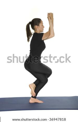 yoga pose garudasana eagle pose stock photo edit now 36947818  shutterstock