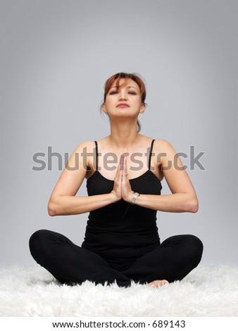 Yoga position - stock photo