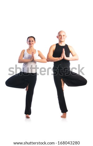 yoga seria couple in vrikshasana a position in yoga is