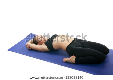 Yoga seria Supta Virasana (suptavi-ra-sana) or Reclined Hero Pose  sc 1 st  Shutterstock & Hero Pose Yoga Stock Images Royalty-Free Images u0026 Vectors ... islam-shia.org
